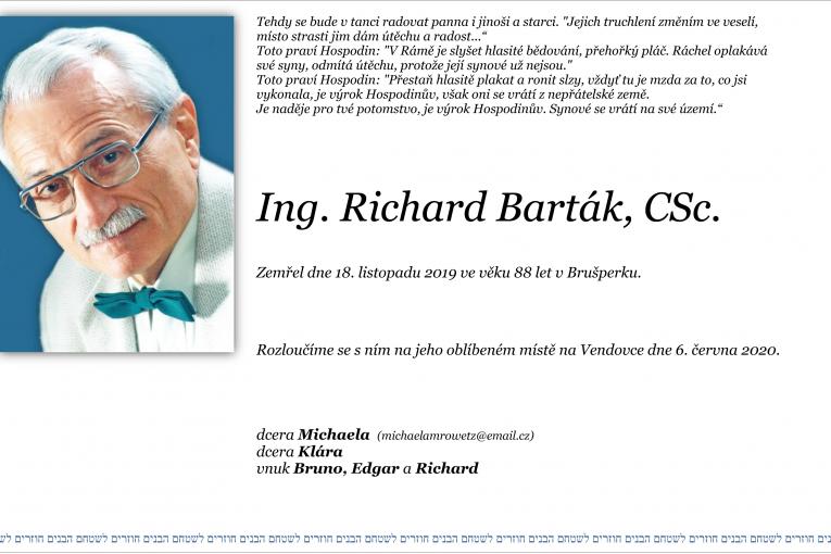 Vzpomínka na Richarda Bartáka
