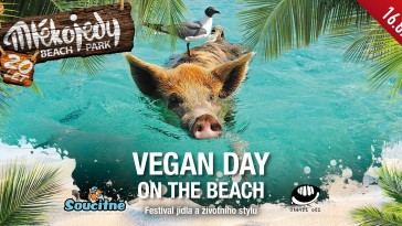 VEGAN DAY on the beach Mlékojedy