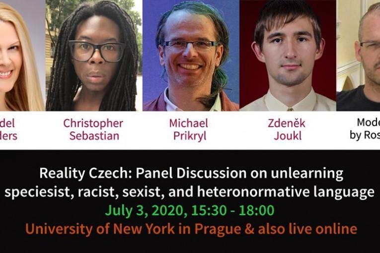 """Panelová diskuse - """"Hlasy osvobození: převzetí moci nad jazykem."""" (Praha)"""