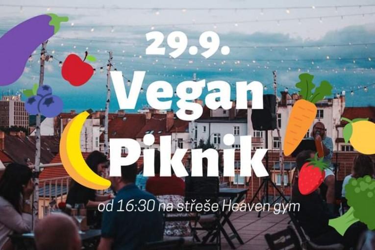 Vegan piknik na střeše Heaven gym (České Budějovice)