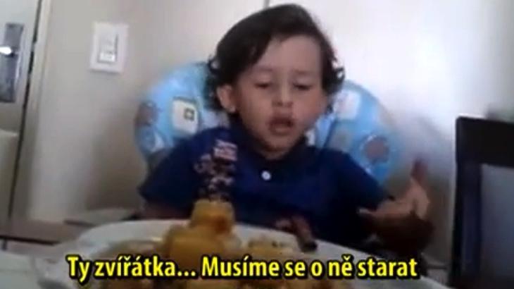 Inspirativní video chlapce, který si uvědomil, že nechce jíst zvířata
