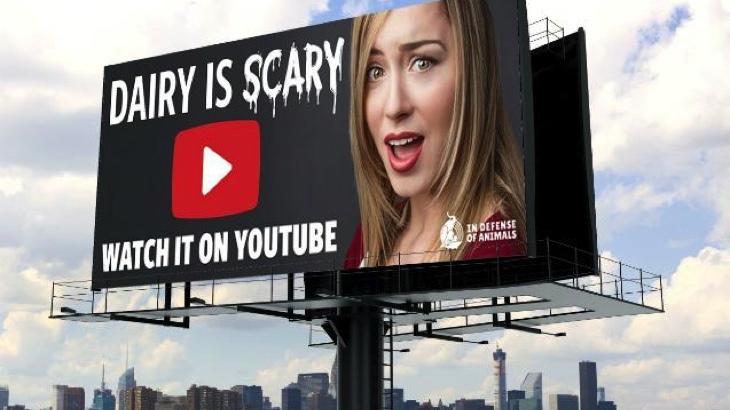Přes 60 billboardů v L.A. odhaluje realitu mléčného průmyslu