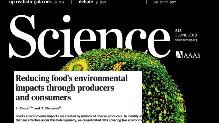 Snížení dopadu potravy na životní prostředí: vliv spotřebitelů a výrobců (Science)